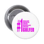 Golfistas del golf de los chicas: Golfista rosado  Pin