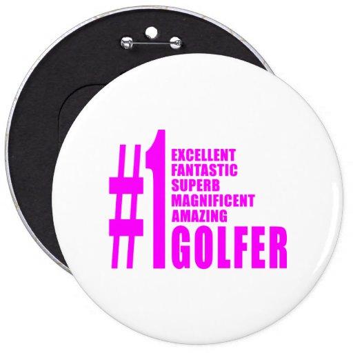 Golfistas del golf de los chicas: Golfista rosado  Pins