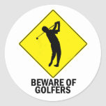 Golfistas Etiqueta Redonda