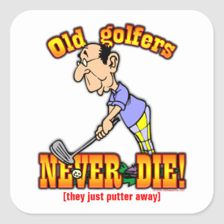 Golfistas Pegatina Cuadrada