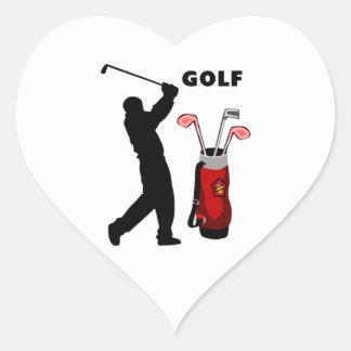 Golfistas Pegatina En Forma De Corazón