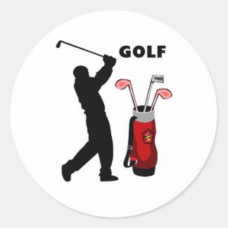 Golfistas Pegatina Redonda