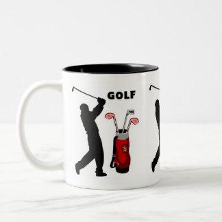 Golfistas Taza De Dos Tonos