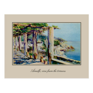 Golfo de Amalfi de la acuarela de la acuarela de Postales