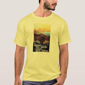 Golfo de Vesuvio del vintage del viaje italiano de Playera