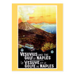 Golfo de Vesuvio del vintage del viaje italiano de Postales