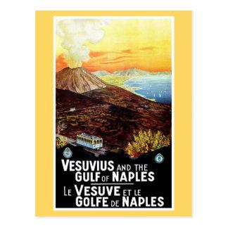 Golfo de Vesuvio del vintage del viaje italiano de Postal