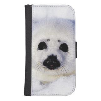 Golfo del hielo del perrito de foca de Groenlandia Funda Tipo Billetera Para Galaxy S4