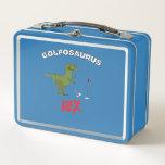 "Golfosaurus king of golfing golf gift metal lunch box<br><div class=""desc"">Golfosaurus king of golfing golf gift</div>"
