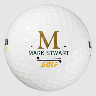 golfplayer initial/name custom monogram golf balls