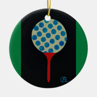 Golf's HOT Round of the Year Keepsake Ceramic Ornament