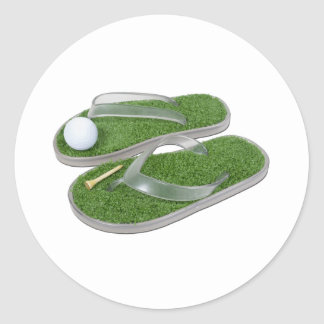 GolfShoesBallTee062011 Classic Round Sticker
