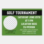 Golft Tournament Yard Sign