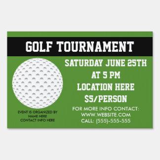 Golft Tournament Lawn Sign