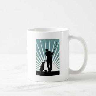 golftrolley+golfer zazzle coffee mug
