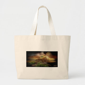 Golgotha by Cebarre Large Tote Bag