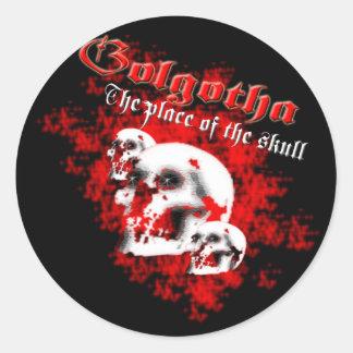 Golgotha Classic Round Sticker
