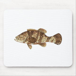 Goliath Grouper Gamefish ocean vector illustration Mouse Pad