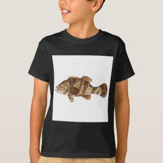 Goliath Grouper Gamefish ocean vector illustration T-Shirt