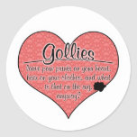 Gollie Paw Prints Dog Humor Round Stickers