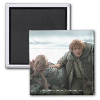 Gollum and Samwise 2 Inch Square Magnet
