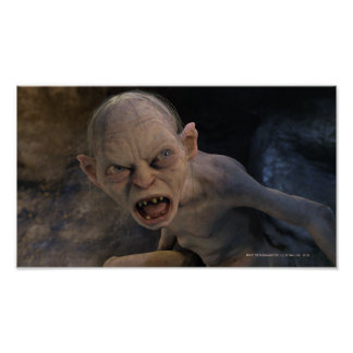 Gollum Close Up Poster
