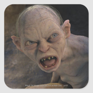 Gollum Close Up Square Sticker