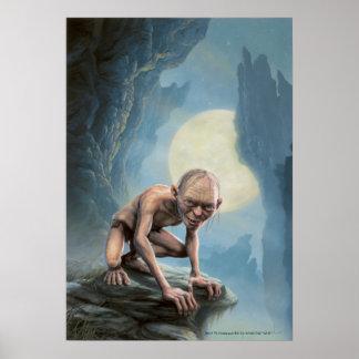 Gollum con la luna póster
