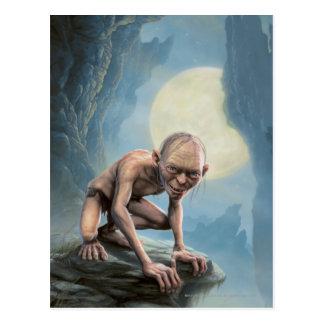 Gollum con la luna tarjetas postales