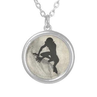 Gollum Concept Sketch Round Pendant Necklace