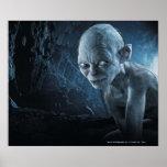 Gollum en cueva poster