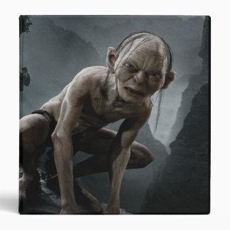 """Gollum en una roca carpeta 1 1/2"""""""