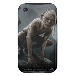 Gollum en una roca iPhone 3 tough carcasa