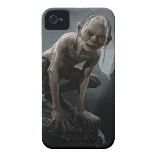 Gollum en una roca iPhone 4 Case-Mate fundas