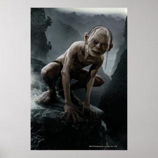 Gollum en una roca poster