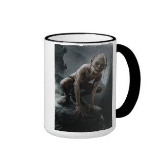 Gollum en una roca taza