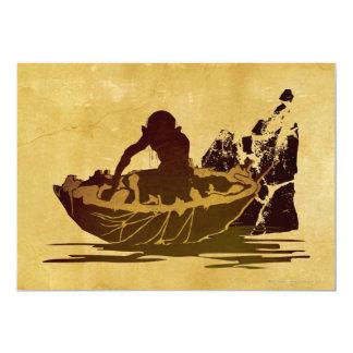 Gollum in a Raft 5x7 Paper Invitation Card