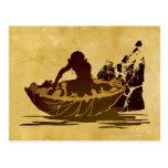 Gollum in a Raft Post Card