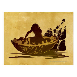 Gollum in a Raft Postcard