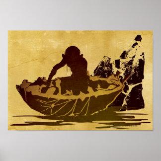 Gollum in a Raft Poster