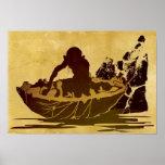 Gollum in a Raft Print