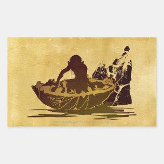 Gollum in a Raft Rectangular Sticker