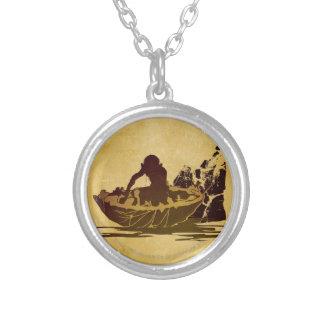 Gollum in a Raft Round Pendant Necklace