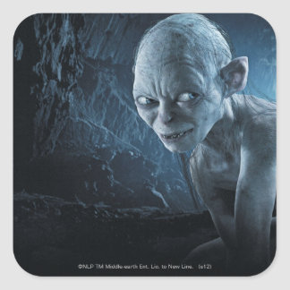Gollum in Cave Square Sticker