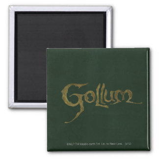 Gollum Name - Textured Magnet