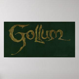 Gollum Name - Textured Poster