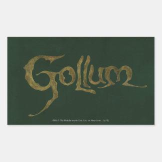 Gollum Name - Textured Rectangular Sticker