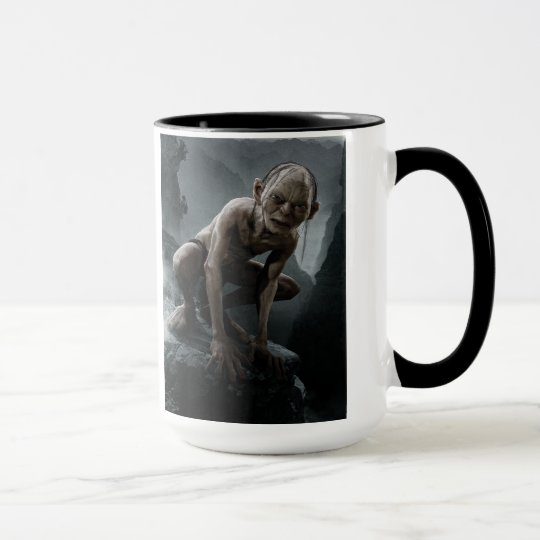 Gollum on a Rock Mug