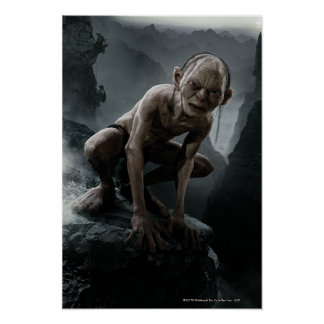Gollum on a Rock Poster