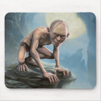 Gollum with Moon Mouse Pad